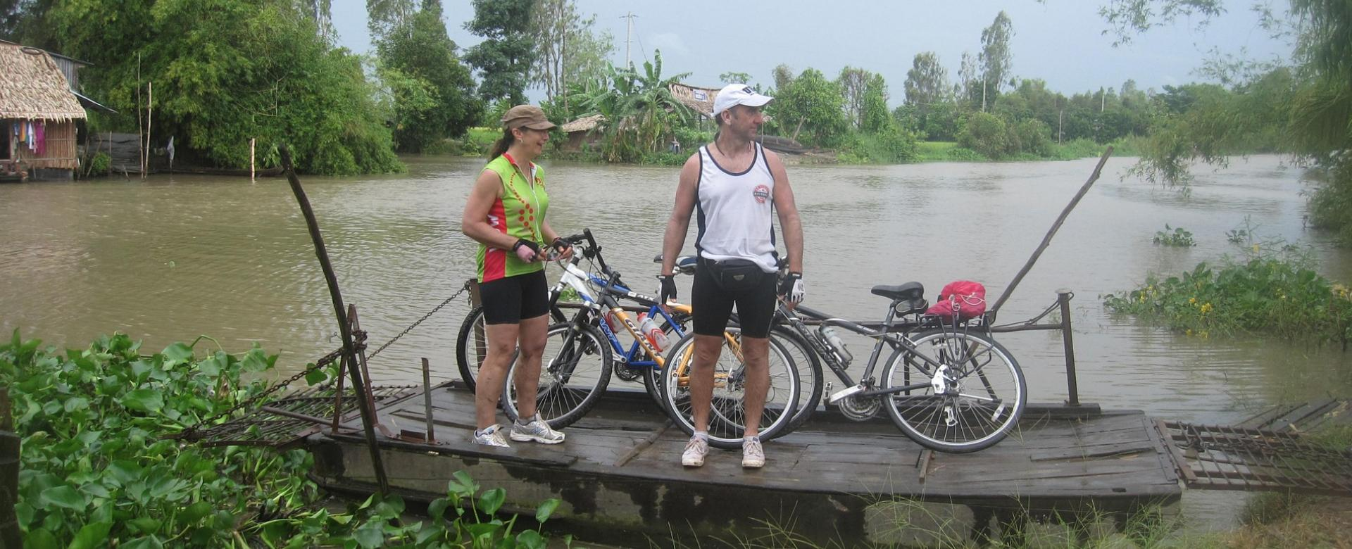 Biking Mekong Chau Doc to Cao Lanh to Can Tho